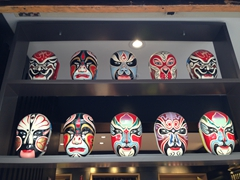 Opera masks for sale; Chengdu