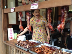 Rabbit for sale; Jinli ancient street
