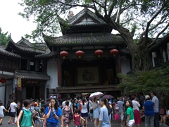 Temple near Jinli ancient street; Chengdu