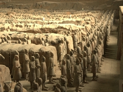 More than 6,000 terracotta figurines are assembled in Pit One's excavation site; Xi'an
