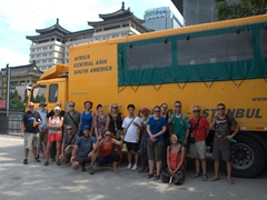 Giving Habibi one last truck clean in Xi'an - our final stop on the Silk Road