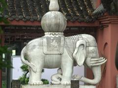 Elephant statue at Wenshu Yuan Monastery; Chengdu