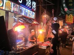 Xi'an night market in the Muslim Quarter