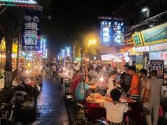 Night market street scene; Xi'an