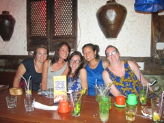 The girls having fun at Marley's (Tig, Ichi, Kate, Becky and Gill)