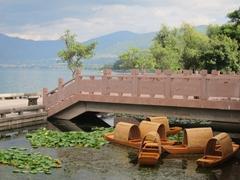 Boats on Qionghai Lake; Xichang