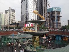 Chengdu sunken plaza