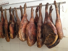 Dry cured ham at a restaurant in Kunming
