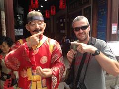 Funny street scene in Kunming