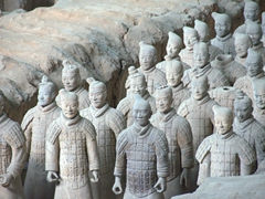 Each terracotta warrior is life-sized making for an impressive sight!