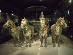 Bronze chariot for Emperor Qin Shi Huang