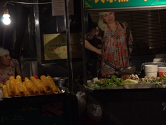 Muslim ladies selling food at the night market