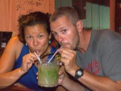 Enjoying a mojito bucket at Marley's Bar; Xi'an