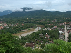 A fine vista from the top of Mount Phousi; Luang Prabang