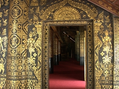 Gilded entrance to Wat Xieng Thong