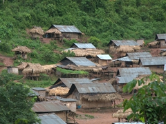 One of several tribal villages seen on our drive out to Muang Sing