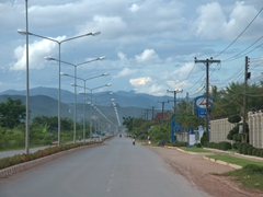 Driving down the main highway of Luang Namtha