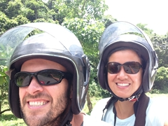 Enjoying our ride around Luang Namtha