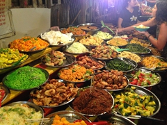 Luang Prabang night market food buffet