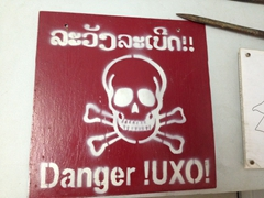 25% of villages in Laos are contaminated with UXO. Even 50 years later, one person a day will die or be injured as a result of ordnance dropped by the US
