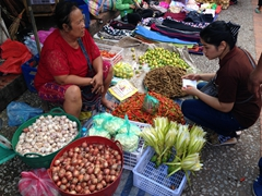 Morning market scene