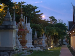 Stupas at Wat Si Saket, the oldest temple of Vientiane