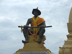Statue of King Sai Setthathirath who moved the capital from Luang Prabang to Vientiane in 1560