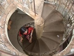 Circular staircase leading up Patuxai (3000 kip for a view overlooking Vientiane)