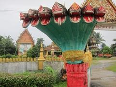 Entrance to Wat Si Suman; Vang Vieng
