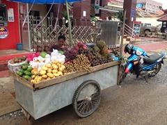 Fruit stand; Vang Vieng