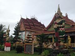 Giants guarding Wat Si Suman; Vang Vieng