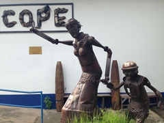 A visit to COPE where this statue was made from 500kg of UXO (to include cluster bombs)