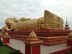 Reclining Buddha; Wat That Luang Tai