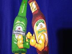 Heineken versus Beerlao t-shirt