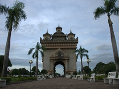 "Patuxai or ""Victory Gate""; Vientiane"
