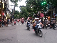 Chaotic traffic in Hanoi