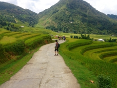 Enjoying our Sapa trek