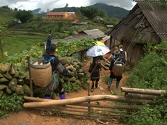 Reaching Suoi Ho village, home to the Hmong minority people