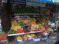 Exotic fruits for sale in Hanoi