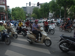Scooter madness in downtown Hanoi