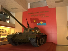 T.54B tank used to make the final thrust into Independence Palace in Saigon on 30 April, 1975 signaling the end of the Vietnam War