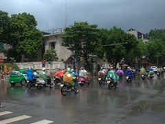 A heavy afternoon rain in Hanoi - welcome to the wet season!