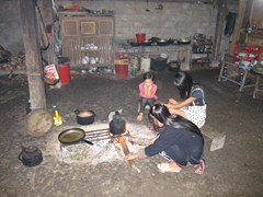 Kitchen area of our homestay in Ta Phin