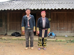 Our gracious Red Dao hosts in Ta Phin - Vung and his lovely wife May Sinh