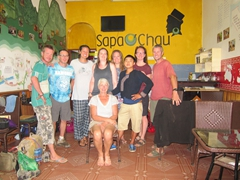 Our happy group at the end of our 2 day trek in Sapa with the excellent Sapa O'Chau and our guide Su