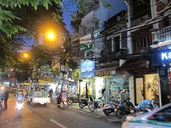 Night time in Hanoi's old quarter