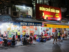 Bun cha - a delicious pork dipped in fish sauce dish that is popular in Hanoi