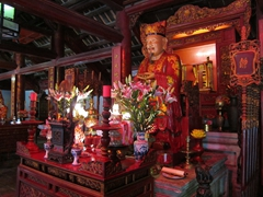 Interior shrine at the Temple of Literature