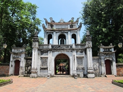 Imposing gateway to the Temple of Literature - considered one of Hanoi's most picturesque buildings