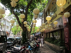 Street lanterns; downtown Hanoi